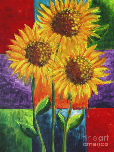 Painting - Sonflowers I by Holly Carmichael