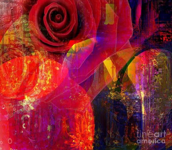 Wall Art - Mixed Media - Song Of Solomon - Rose Of Sharon by Fania Simon
