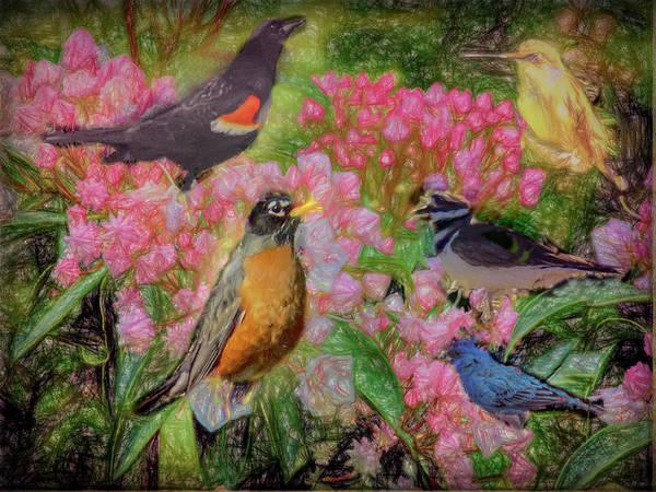 Digital Art - Songbird Collage by Rusty R Smith