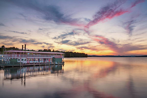 Photograph - Songo River Queen Sunset by Darylann Leonard Photography