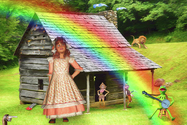 Wicked Witch Digital Art - Songs About Rainbows by John Haldane