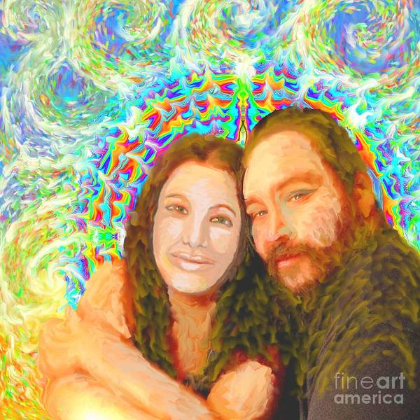 Painting - Sonia Marie And Her Sweetheart by Hidden Mountain