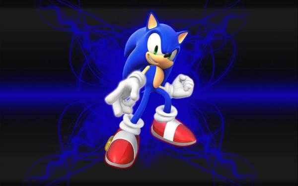 Wall Art - Digital Art - Sonic The Hedgehog by Winna Perlin