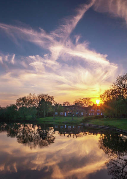 Photograph - Sonning Sunset Reflections by Framing Places