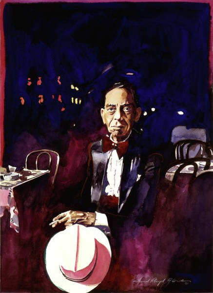 Painting - Sonny Greer Jazz Drummer by David Lloyd Glover