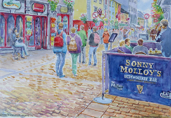 Wall Art - Painting - Sonnys High Street Galway by Tomas OMaoldomhnaigh
