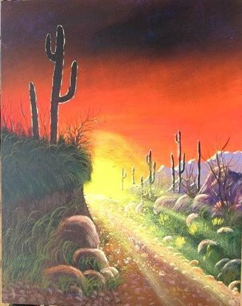 Painting - Sonora Sunrise by Lorraine Bradford