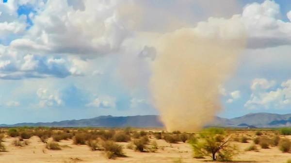 Photograph - Sonoran Desert Dust Devil by Judy Kennedy