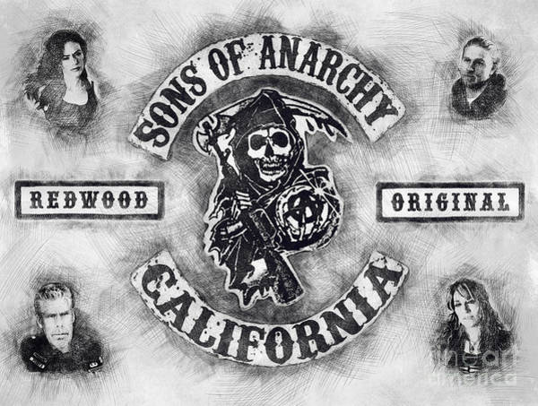 Tribute Digital Art - Sons Of Anarchy Graphic Tribute by Vix
