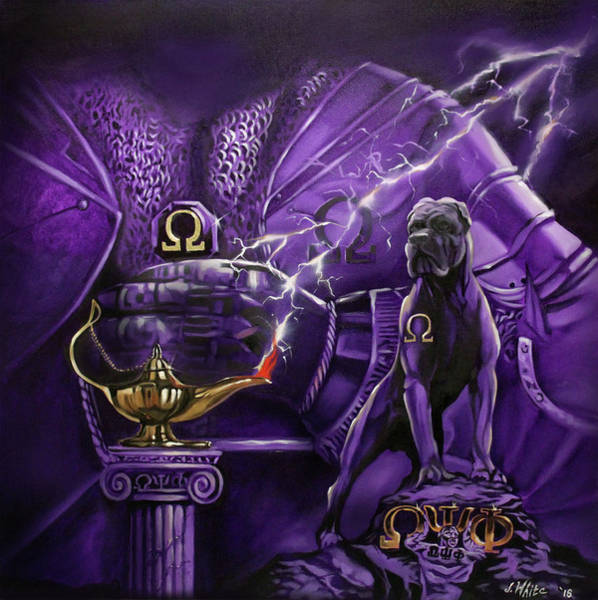 Psi Wall Art - Painting - Sons Of Blood And Thunder by Jerome White