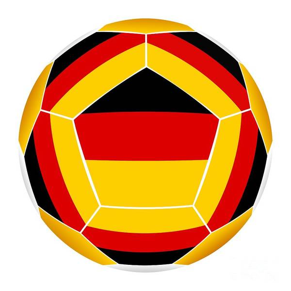 Cutout Digital Art - Soocer Ball With Germany Flag by Michal Boubin
