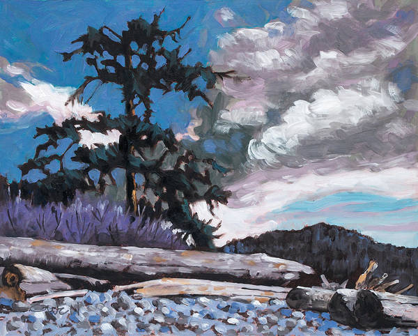 Painting - Sooke, Whiffin Spit by Rob Owen