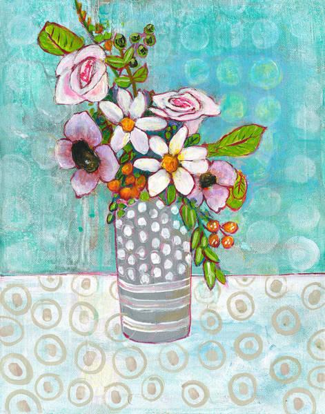 Wall Art - Painting - Sophia Daisy Flowers by Blenda Studio
