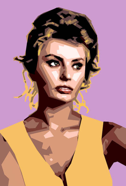Italian Actress Wall Art - Digital Art - Sophia by Douglas Simonson