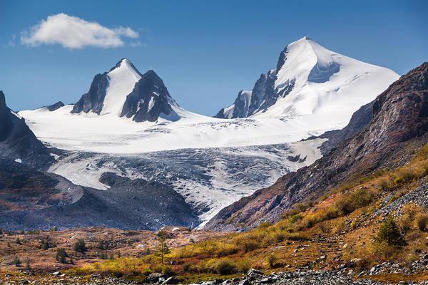 Photograph - Sophia Glacier. Altai by Victor Kovchin