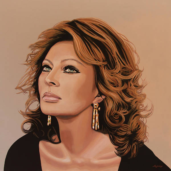 Wall Art - Painting - Sophia Loren 3 by Paul Meijering