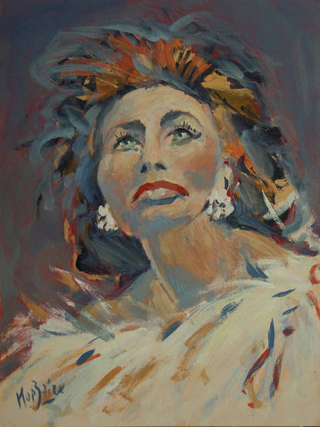 Wall Art - Painting - Sophia Loren by Nop Briex