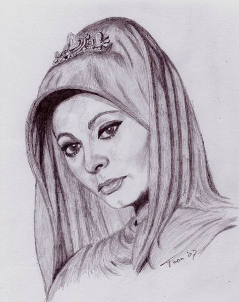 Drawing - Sophia Loren by Toon De Zwart