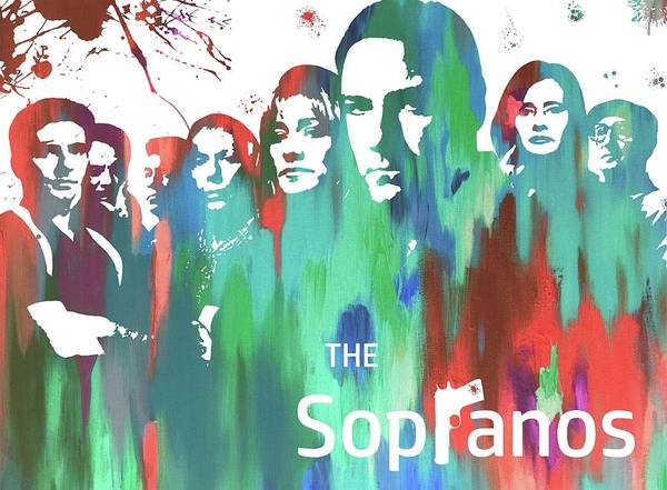Wall Art - Painting - Sopranos Paint Poster by Dan Sproul