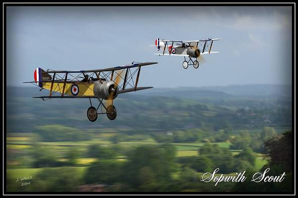 World War 1 Digital Art - Sopwith Scout 2 by John Wills