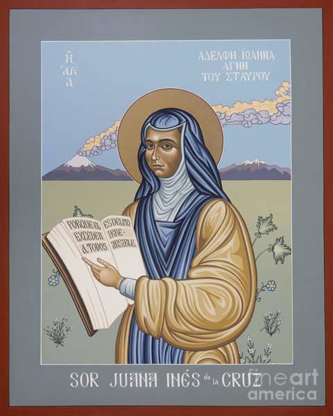 Painting - Sor Juana Ines De La Cruz - Lwsjc by Lewis Williams OFS