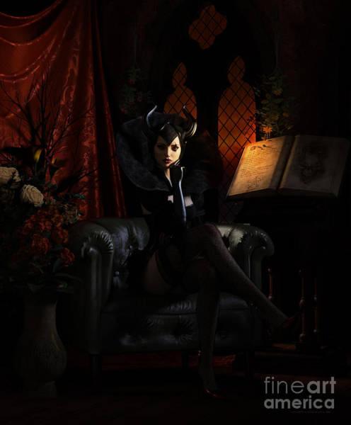 Witch Digital Art - Sorciere by Shanina Conway