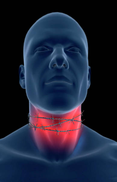 Front Digital Art - Sore Throat by MedicalRF.com