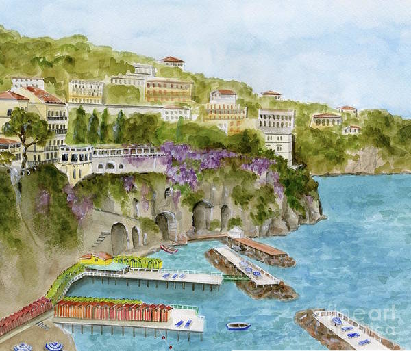 Wall Art - Painting - Sorrento, Italy by Sheryl Heatherly Hawkins