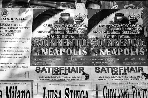 Italian Football Wall Art - Photograph - Sorrento Vs. Neapolis by John Rizzuto
