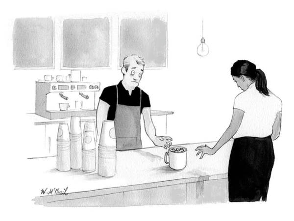 Drawing - Sos Cafe by Will McPhail
