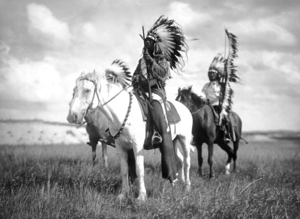 Wall Art - Photograph - Sioux Chiefs On The Great Plains  1905 by Daniel Hagerman