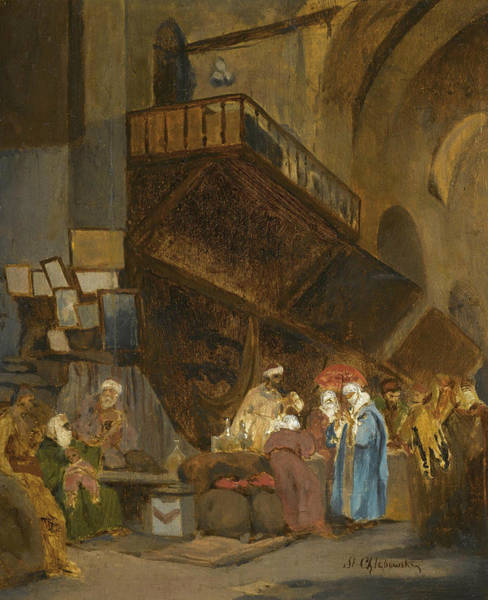 Painting - Souk In Constantinople by Stanislaw Chlebowski