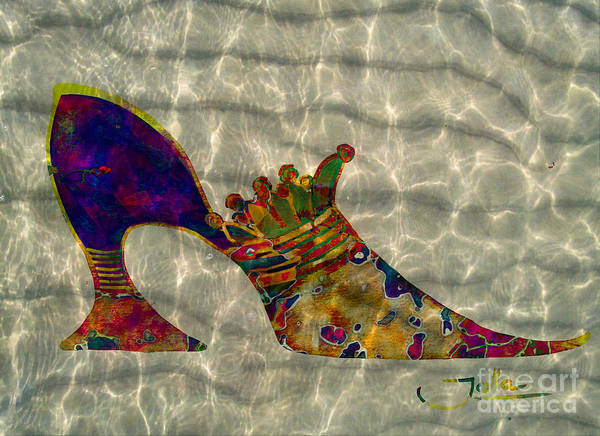 Mixed Media - Soulful Soles by Jolanta Anna Karolska