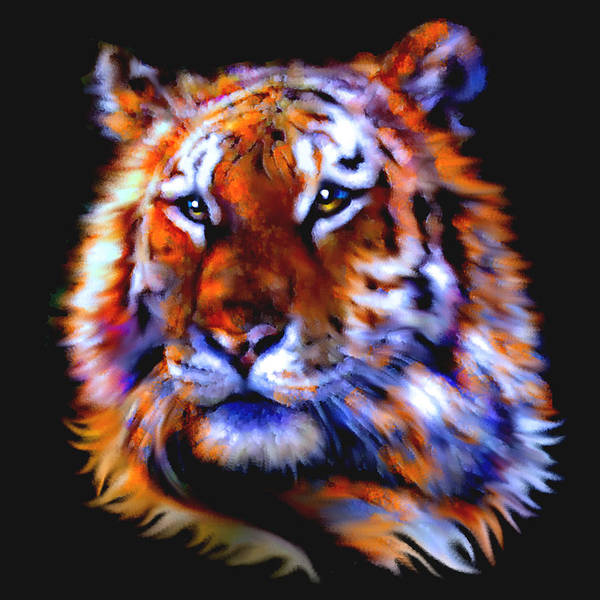 Painting - Soulful Tiger by Elinor Mavor