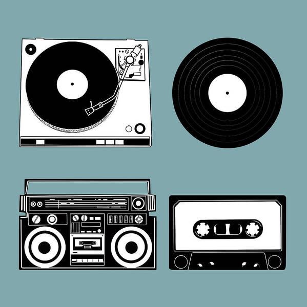 Sixties Digital Art - Sound Evolution 11 by Bekim Art