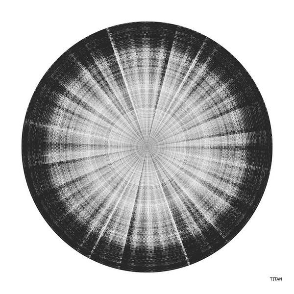 Planets And Moons Digital Art - Sound Of Saturn Vi Titan - Audiovisual by David Mrugala