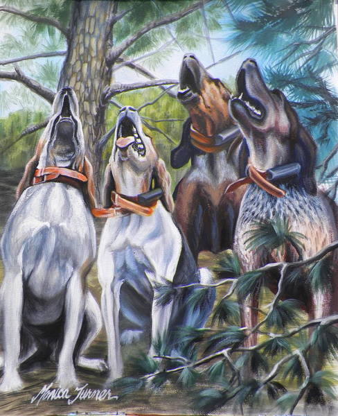 Pine Needles Painting - Sound Of The Hound by Monica Turner