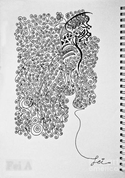 Drawing - Soundless Whisper by Fei A