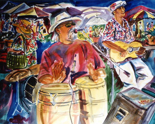 Wall Art - Painting - Sounds Of Buffett by Janet Brice Parker