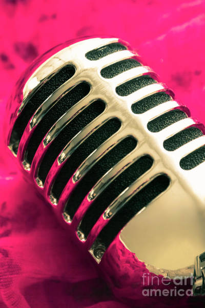 Microphone Photograph - Sounds Of Satin by Jorgo Photography - Wall Art Gallery