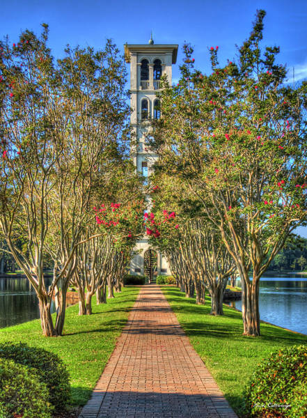 Photograph - Sounds Of Victory The Bell Tower Furman University Greenville South Carolina Art by Reid Callaway
