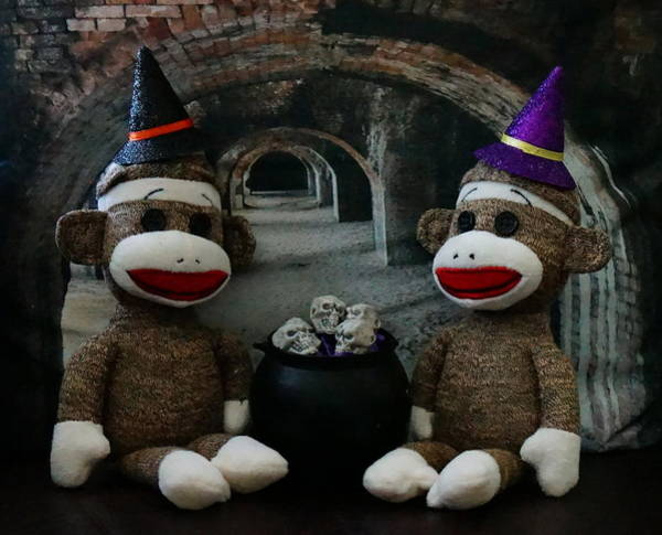 Sock Monkey Photograph - Soup Is On by Chuck Johnson