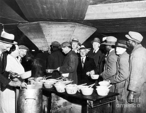 Photograph - Soup Kitchen, 1931 by Granger