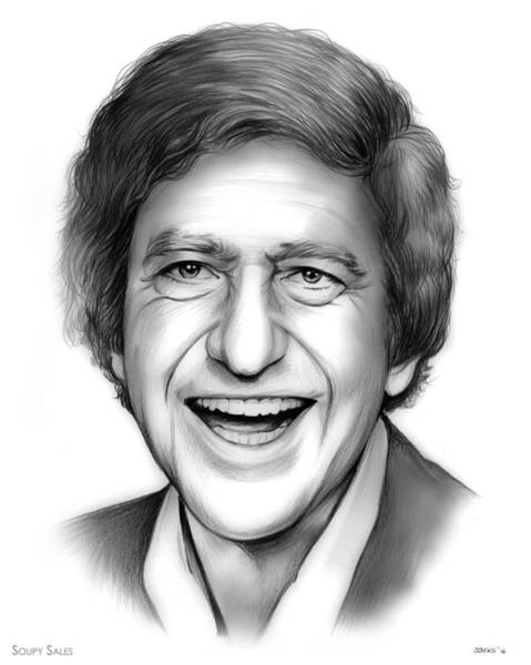 Comedy Wall Art - Drawing - Soupy Sales by Greg Joens