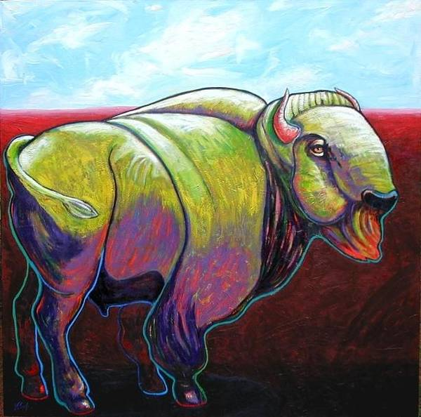 Wall Art - Painting - Source Of Our Being - Buffalo by Joe  Triano