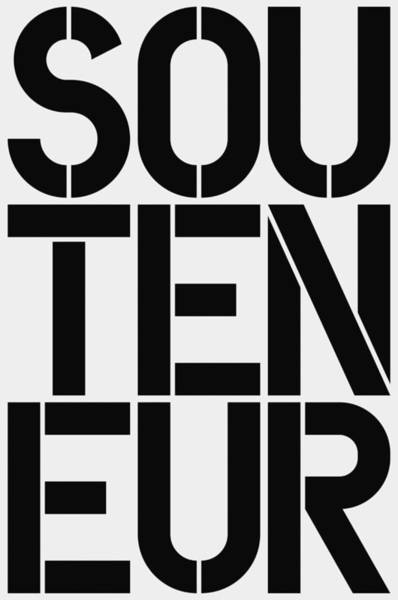 Wall Art - Painting - Souteneur by Three Dots