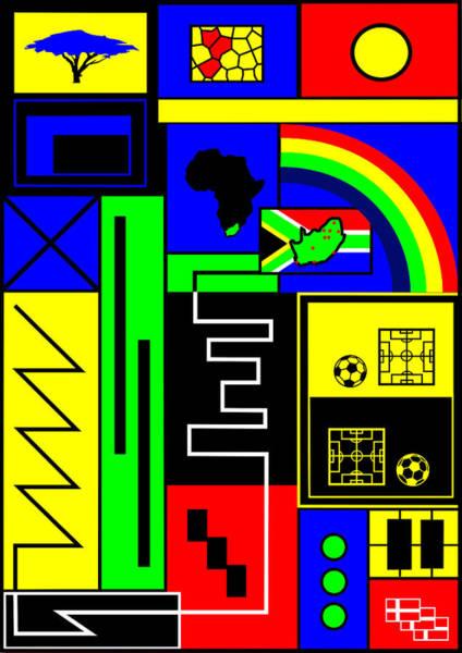 2010 Fifa World Cup Wall Art - Digital Art - South African Joy by Asbjorn Lonvig