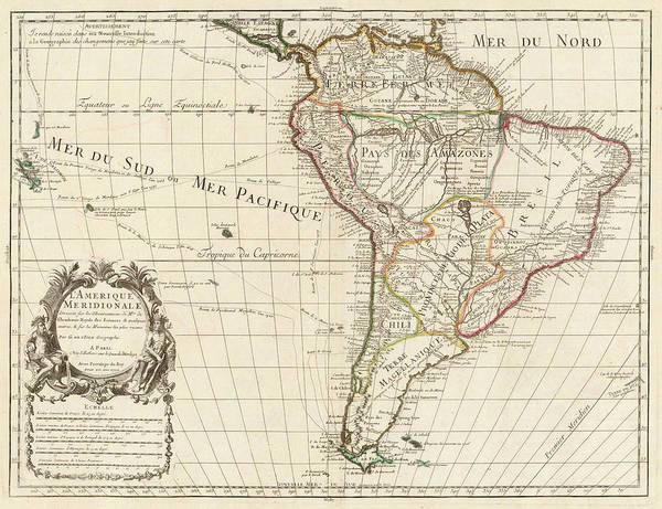 Wall Art - Painting - South America by Guillaume Delisle