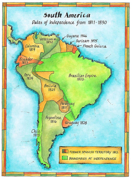 Wall Art - Digital Art - South American Independence by Jennifer Thermes