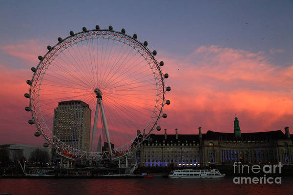 Photograph - South Bank Sunset London by James Brunker